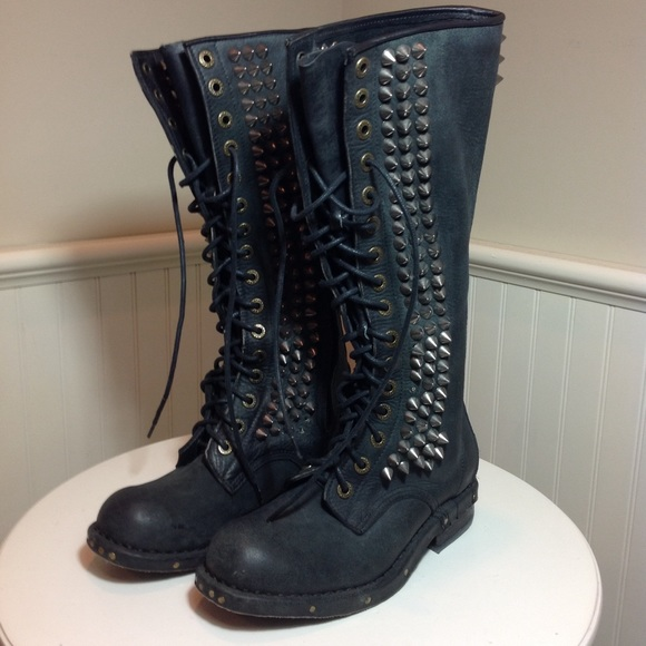 422572c5a90cb Jeffrey Campbell Shoes - Jeffrey Campbell Studded Seattle Love Boots 7